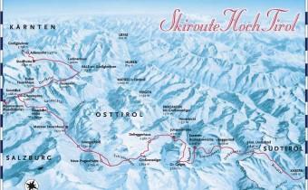 Skiroute Hoch Tirol Übersichtskarte